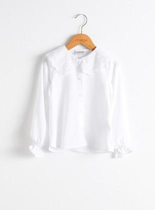 White - Girls` Shirt - LC WAIKIKI