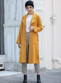 Mustard - Unlined - Shawl Collar - - Coat