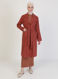 Terra Cotta - Unlined - Shawl Collar - - Coat