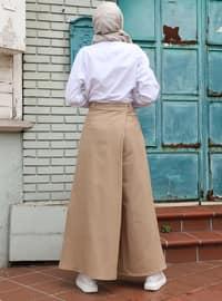 Beige - - Culottes
