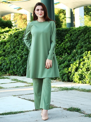 Green - Viscose - Suit