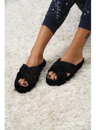 Black - Sandal - Ayakkabı Modası