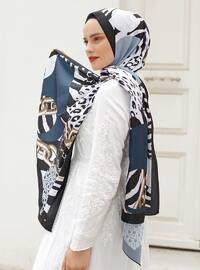 Multi - Printed - %100 Silk - Shawl