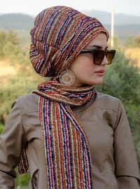 Multi - Printed - Acrylic - Instant Scarf