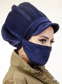 Navy Blue - Plain - - Instant Scarf