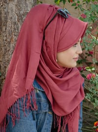 Dusty Rose - Plain -  - Viscose - Instant Scarf