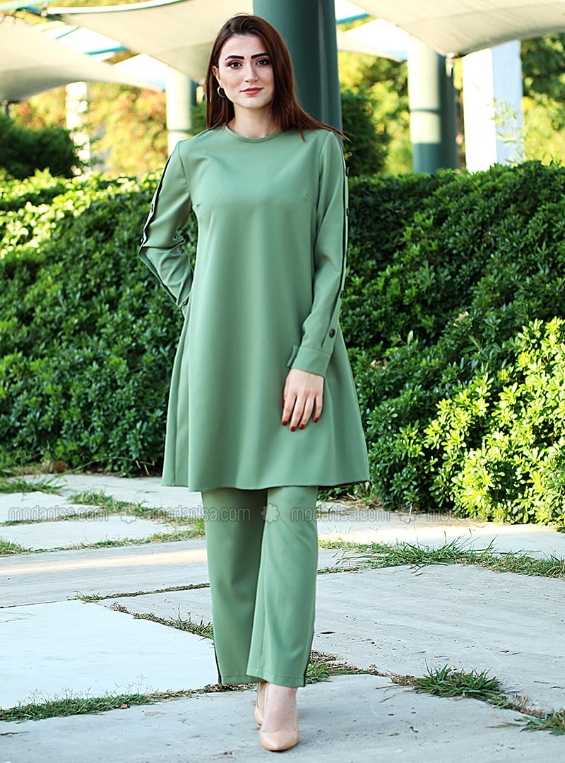 Green - Viscose - Suit