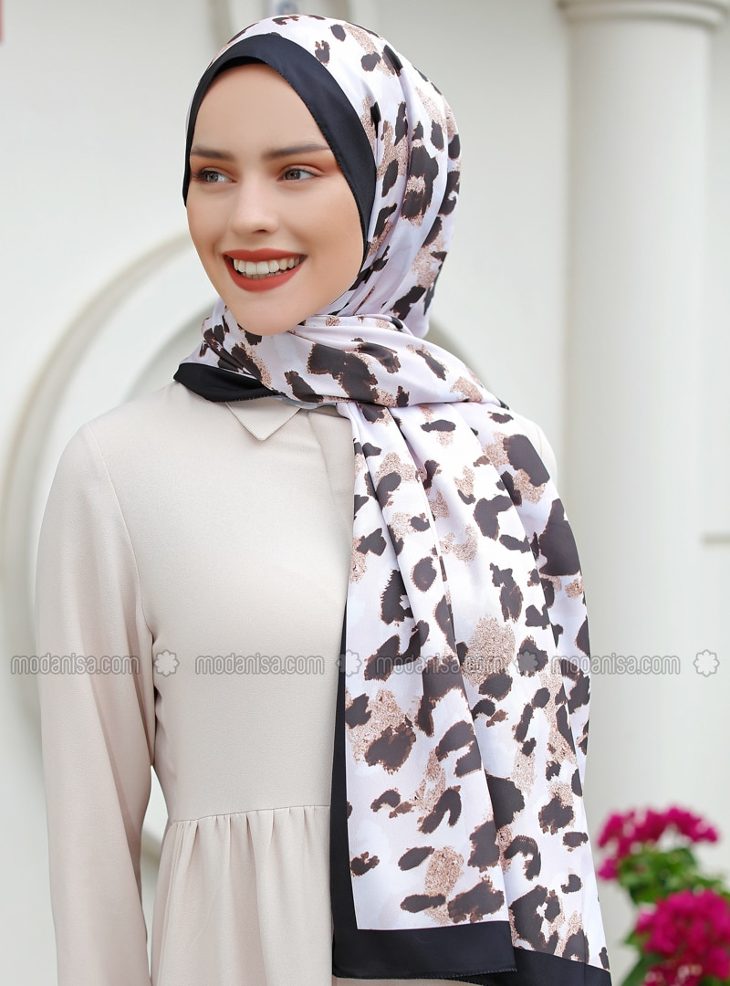 Multi - Printed - %100 Silk - Shawl