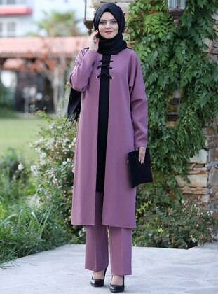 Lilac - Unlined - Crepe - Suit