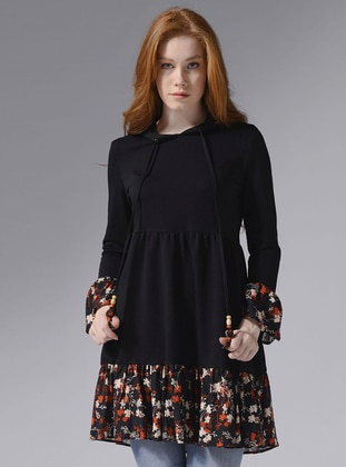 Floral - Black - Sweat-shirt