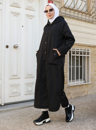 Black - Trench Coat - Neways