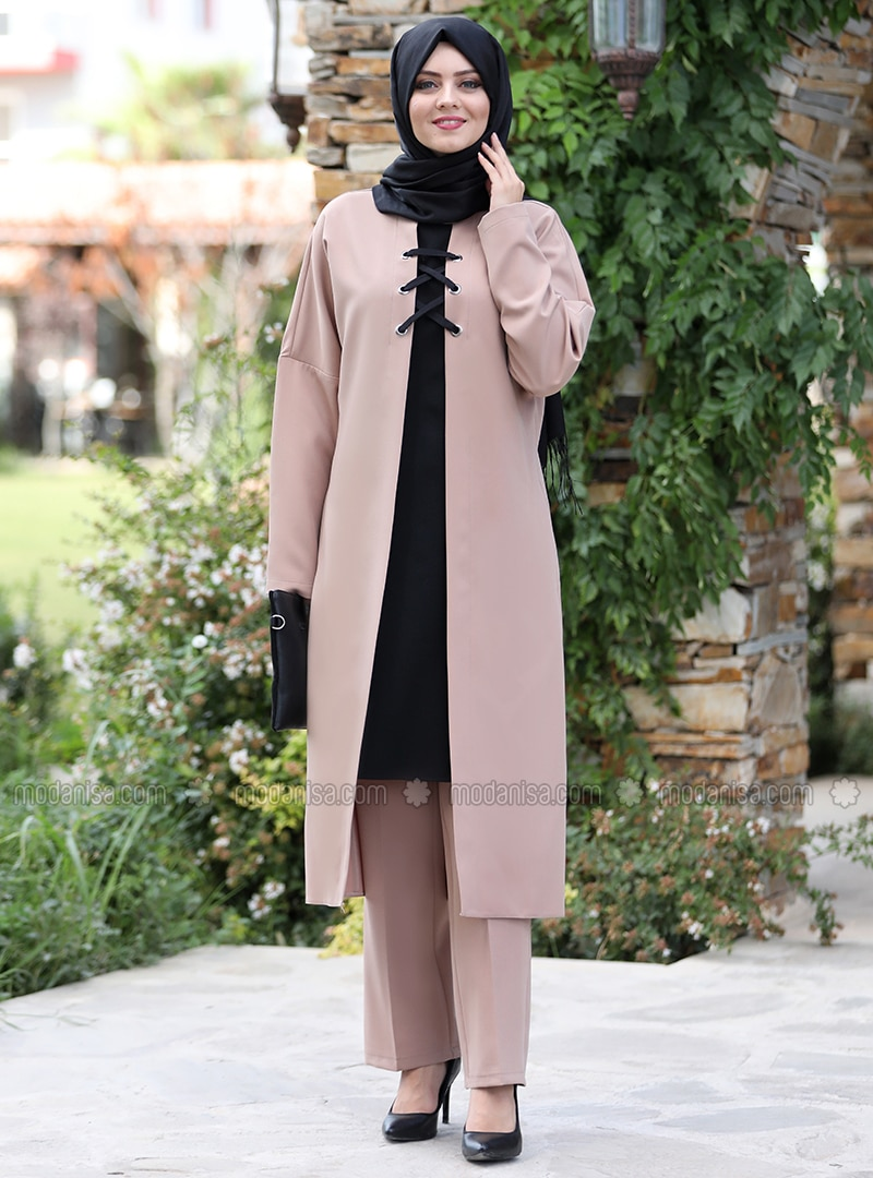 Mink - Unlined - Crepe - Suit