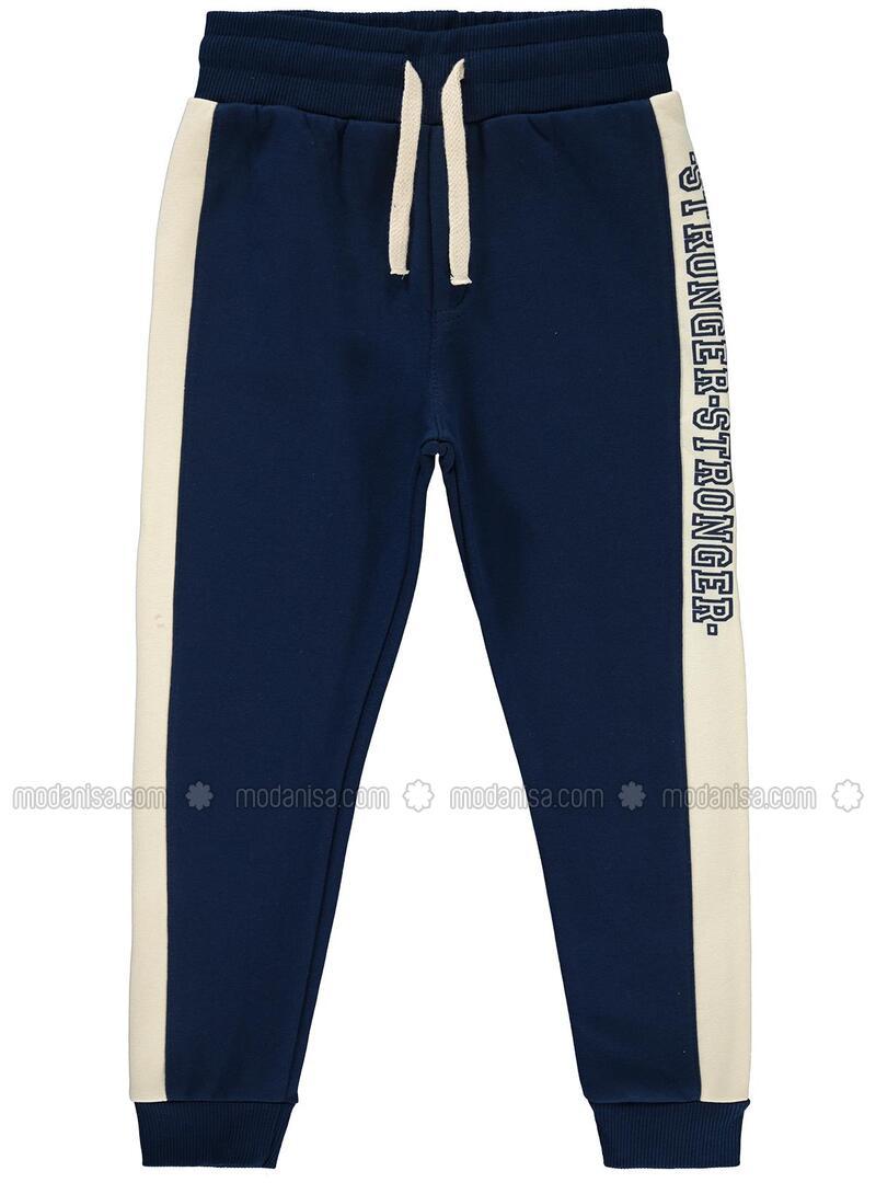 Navy Blue - Boys` Sweatpants