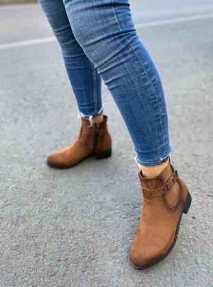 Tan - Boot - Boots - Aker Ayakkabı