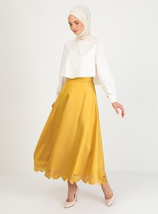 Unlined - White - Ecru - Yellow - Crew neck - Crepe - Evening Suit
