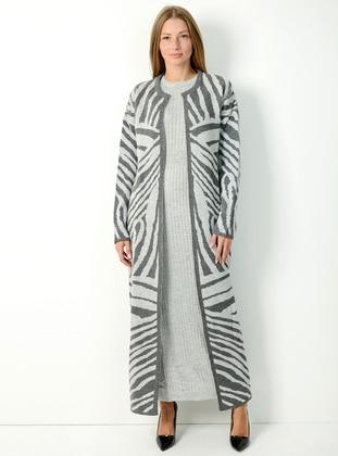 Gray - Multi - Unlined -  - Suit