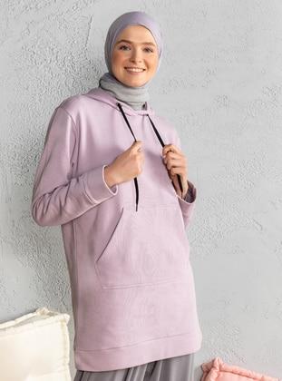 Cotton - Lilac - Sweat-shirt
