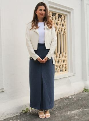 Khaki - Unlined - - Skirt