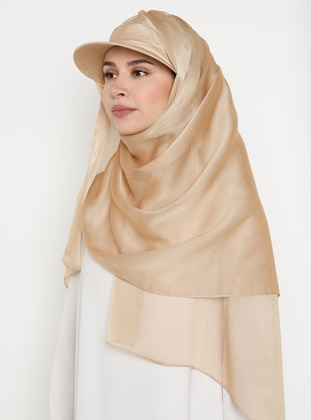 Gold - Plain - Pinless - Instant Scarf