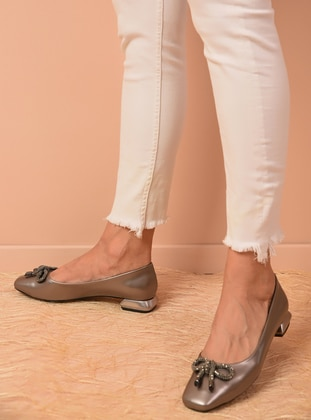 Silver - Flat - Flat Shoes