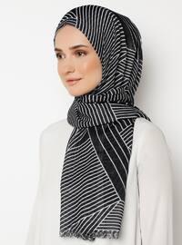 Black - Printed - Shawl