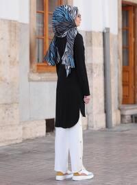 White - Black - Unlined - Crepe - Suit