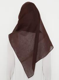 Brown - Plain - Instant Scarf