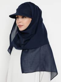 Navy Blue - Plain - Instant Scarf