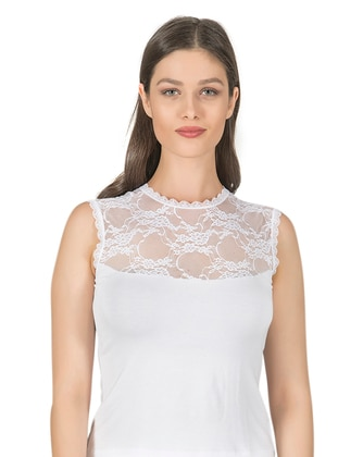 White - - Undershirt - Özkan İç Giyim