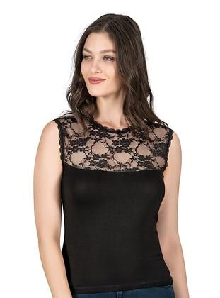 Black - - Undershirt - Özkan İç Giyim