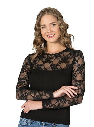 Black - Viscose - Corset - Özkan İç Giyim