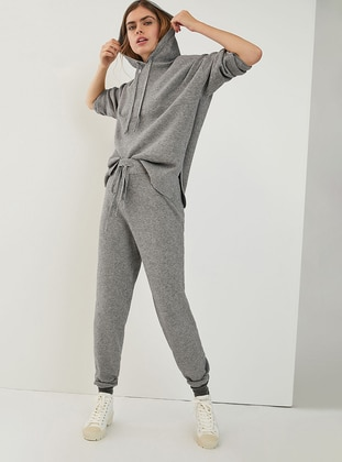 Gray -  - Viscose - Tracksuit Set