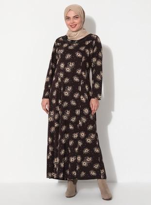 Camel - Plus Size Dress