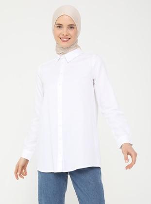 White - White - White - Point Collar - Blouses