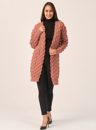 Dusty Rose - Unlined - Acrylic -  - Knit Cardigans