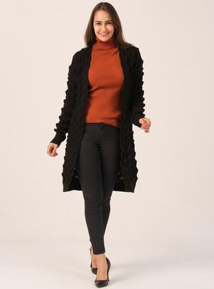 Black - Unlined - Acrylic -  - Knit Cardigans