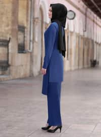 Indigo - Unlined - Crepe - Suit