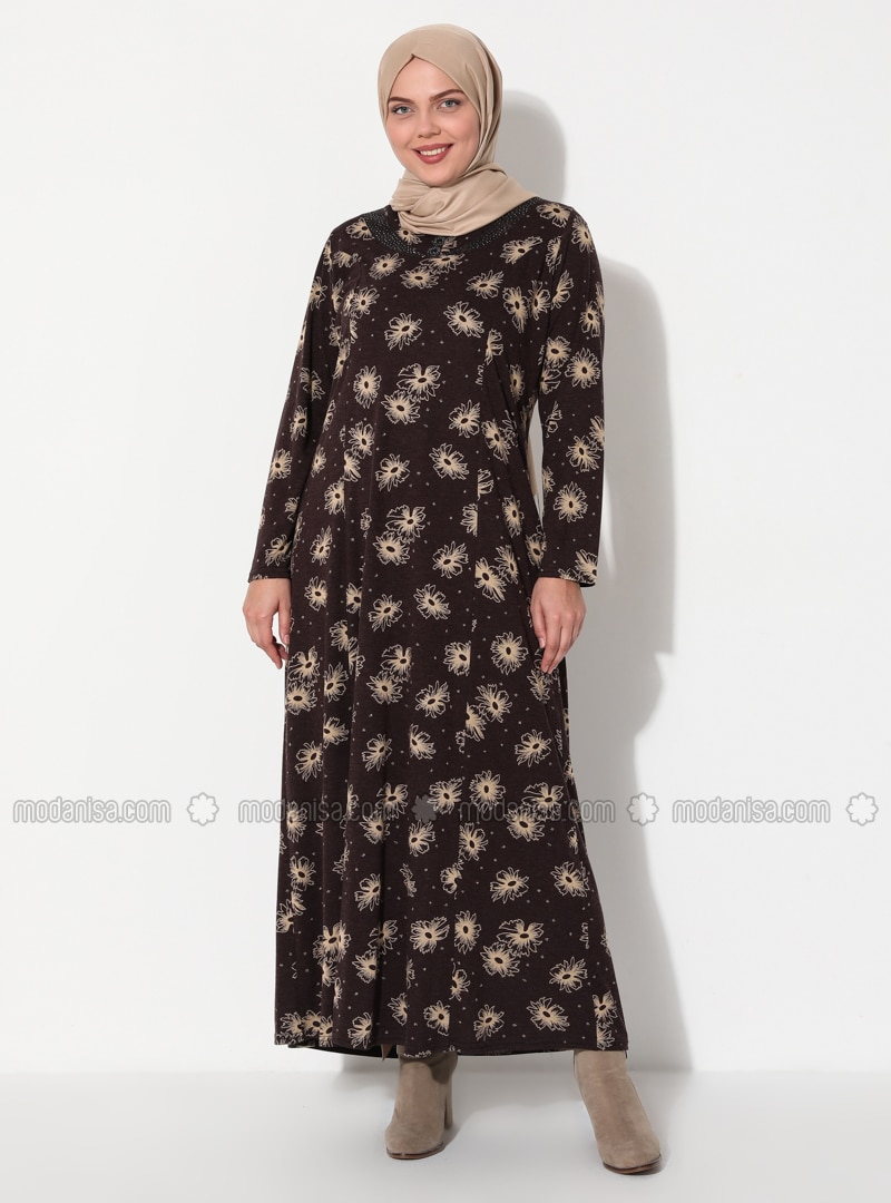 Camel - Plus Size Dress