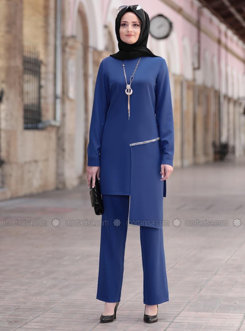 Indigo - Unlined - Crepe - Suit