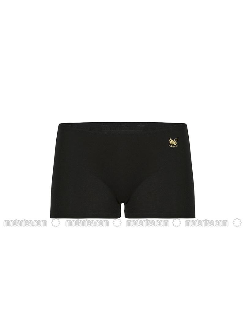Black - Modal - Cotton - Panties
