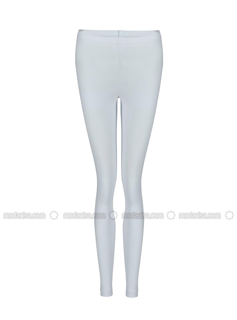 White - - Legging - Özkan İç Giyim