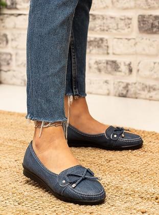 Navy Blue - Flat - Flat Shoes - Snox