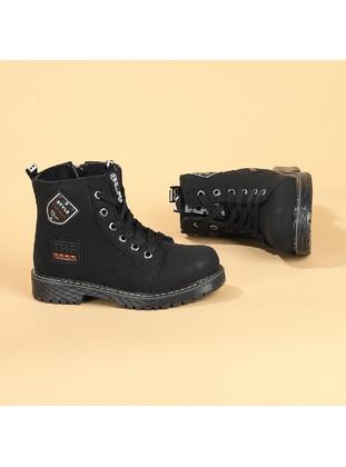 Black - Boys` Boots - Kiko Kids