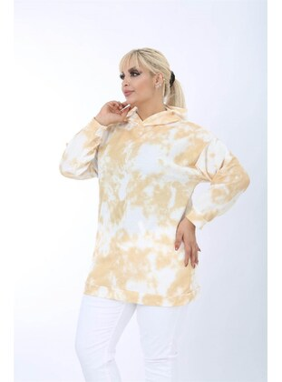 Cream - Plus Size Sweatshirts - MJORA
