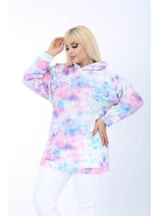 Lilac - Plus Size Sweatshirts - MJORA
