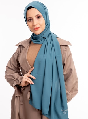 Blue - Petrol - Plain - Shawl