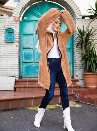 Beige - Unlined - Puffer Jackets