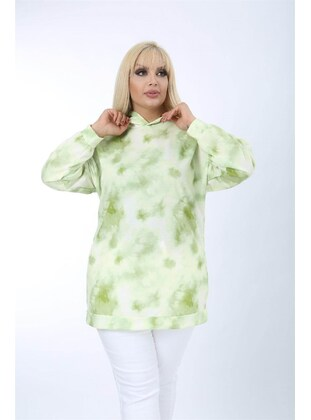 Green - Plus Size Sweatshirts - MJORA