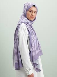 Lilac - Printed - Shawl