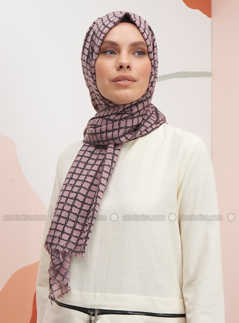 Dusty Rose - Printed - Shawl